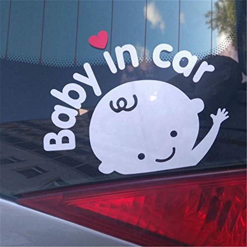 WYLD Auto stickers 3D Cartoon Auto Stickers Reflecterende Vinyl Styling Baby In Auto Opwarming Auto Sticker Baby aan boord Veiligheid op achterruit