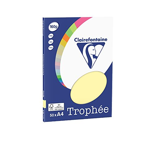Clairefontaine 4157C Trophée Mini ReSMA de carta, 50 fogli, A4, 160 g, Giallo