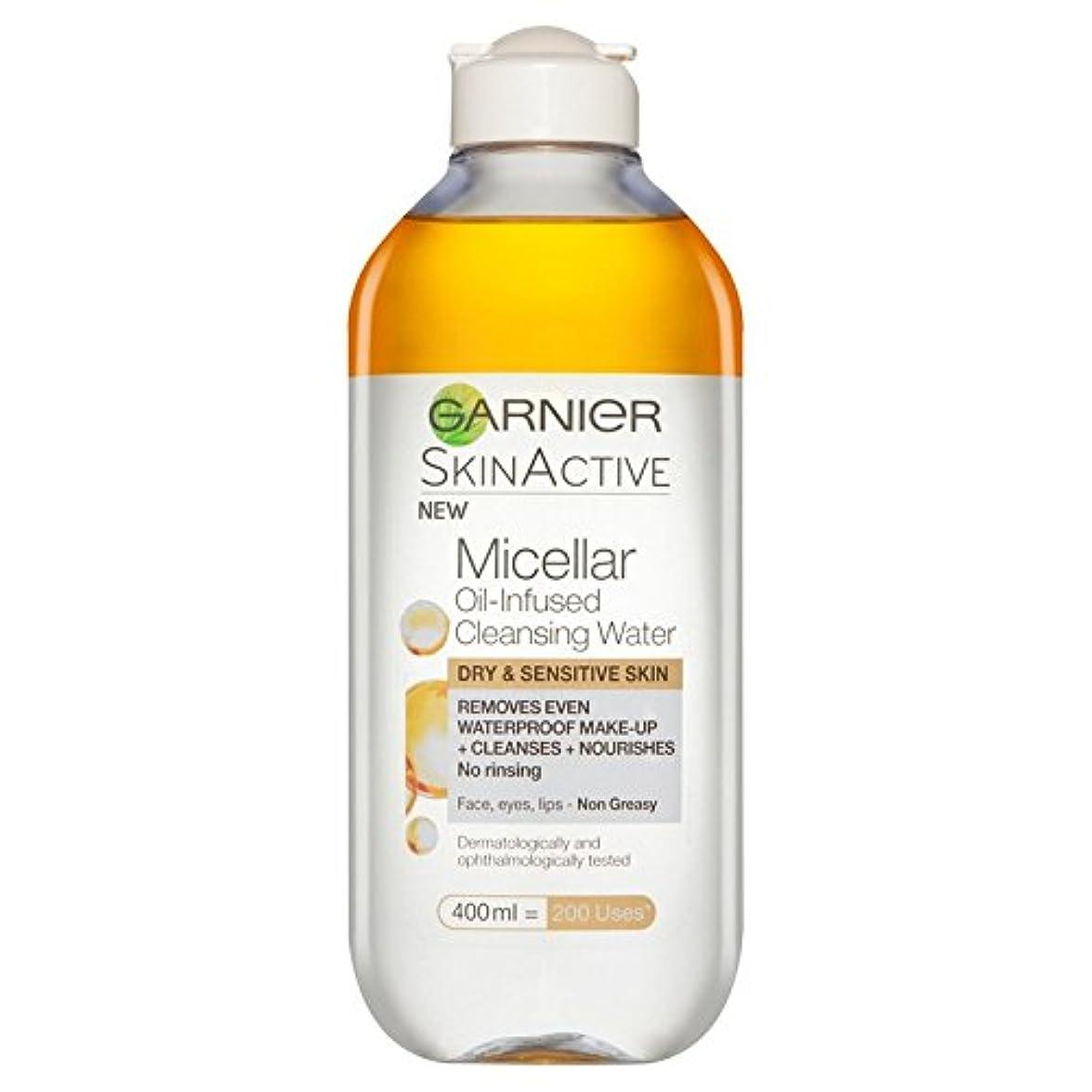 冊子黒岩ガルニエ肌ナチュラルミセル油注入された水 x4 - Garnier Skin Naturals Micellar Oil Infused Water (Pack of 4) [並行輸入品]