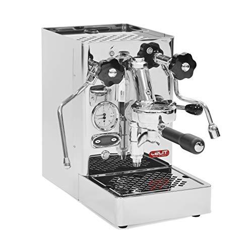 Lelit Mara PL62T Professionelle Kaffeemaschine mit E61-Gruppe für Espresso-Bezug, Cappuccino-Edelstahl-Gehäuse – Temperaturkontrolle für Kaffee durch PID, Stainless Steel, 2.5 liters, silber