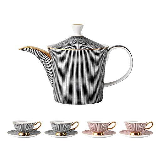 HRDZ Bone China Mug Taza de café de cerámica Juego de Tetera Juego de té de la Tarde Caja de Regalo