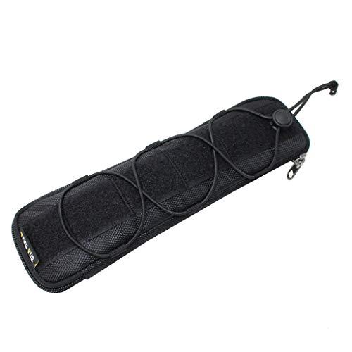 Fenteer Hochwertiger Messertasche Etui Rolltasche für Taschenmesser 3 Größen - Schwarz, L