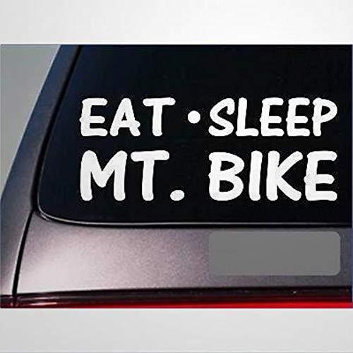 Eat Sleep Mt. Bike Sticker Vinyl Mountain Biking Tires Brakes Chain Stickers Car Decal Window Decal Vinyl Decal Die Cut Decals Funny Laptop Stickers Bumper Stickers Present