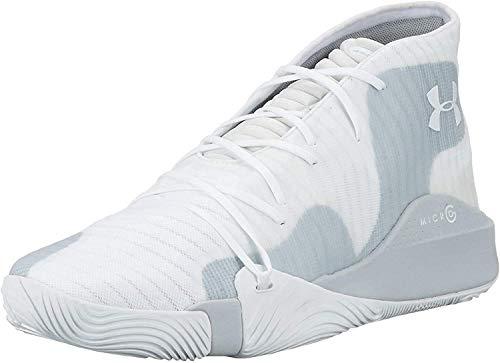 Under Armour Spawn Mid, Herren Basketballschuhe, Weiß (White 102), 45 EU (10 UK)