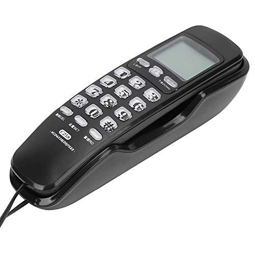 VERDELZ Teléfonos Teléfono Fijo con Cable: teléfono Fijo con reducción de Ruido, teléfono Fijo con Cable para el hogar Montaje en la Pared para Oficina en casa Hotel Restaurante