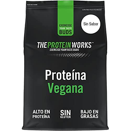 Proteína Vegana   Sin Sabor   100% A Base de Plantas   Sin Gluten   Ecológico   Bajo en Grasas   THE PROTEIN WORKS   1kg