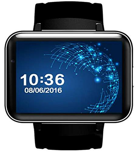 KDSFJIKUYB Smartwatch DM98 Bluetooth Smart Uhr 2.2 Zoll Android OS 3G Smartwatch Telefon MTK6572 Dual Core 1.2GHz 512MB RAM 4GB ROM Kamera GPS-Uhr, Schwarz