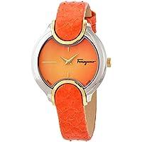 Salvatore Ferragamo Signature Quartz Orange Dial Ladies Watch