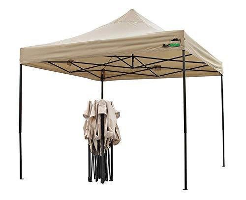 MaxxGarden Pavillon 3x3m   wasserdicht   Pop-Up   inkl. Tasche   UV-Schutz 50+   Faltpavillon Gartenzelt Partyzelt   Farbauswahl (Beige)