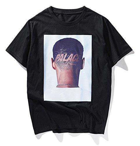 PIZOFF T-Shirt Streetwear Palace Stampa Divertente Oversize Unisex Cotone