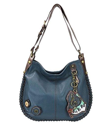 Chala Purse Handbag Hobo Cross Body Convertible Blue Piano Bag