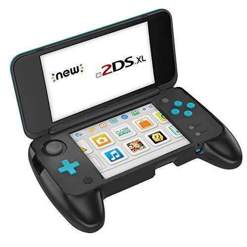 MoKo Compatibile con Nintendo New 2DS XL Grip, Grip Protettivo Antiscivolo con Supporto Accessori Compatibile con Nintendo New 2DS XL/LL (2017) - Nero