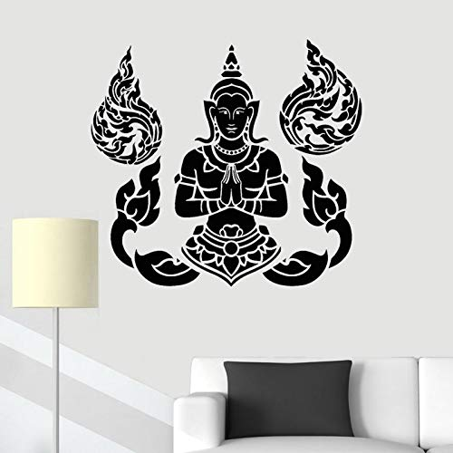 JXFM DIY Wall Sticker Yoga Teaching Decal Home Decoration Bedroom Living Room Decoration Religious Mural 42x29cm