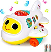 baccow Baby Toys 6 12 18 Months Light Up Moving Musical Airplane Toy for Age 1 2 3 Year Old Boys Girls Gifts Learning Developmental Early Educational Sensory Toys for Toddler Infant Little Kids