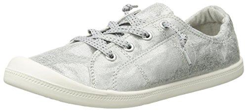 Madden Girl Women's BAAILEY Sneaker, Silver Fabric, 7 M US