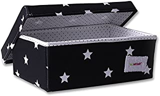 Minene Storage Box  Small  Black with White Star