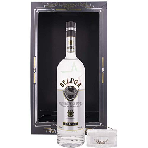 Beluga Beluga Noble Russian Vodka Export Caviar Set 40% Vol. 1L In Giftbox With Kaviar Dose - 1000 ml
