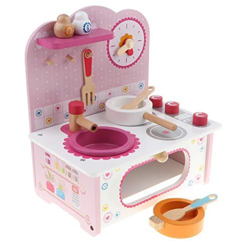 Non brand Sharplace Simulazione Utensile da Cucina Giocattolo Stufa Modello Orologio Cucchiaio Gioco di Ruolo per Bambini 3+ Anni