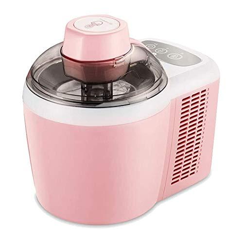 LWJDM Elektrisch Speiseeisbereiter 600ML, DIY Automatische Haushaltsfrucht Eismaschine Mit Eisrezept Perfekt Für Gäste, Kinder Snacks,Rosa