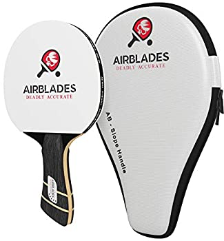 AB-5000 Professional Ping Pong Paddle with Hard Carry Case | Pro Table Tennis Racket | Best Table Tennis Paddle with Ergonomic Handle | 5 Blades of Wood with Premium Rubber and Sponge