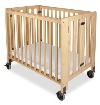 Review Of Folding Fixed-side, Crib - Full-size, Natural, Foundations Hideaway Crib.