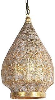 QAZQA Oriental Lámpara colgante oriental dorada 28 cm - MOWGLI Acero Redonda Adecuado para LED Max. 1 x 40 Watt