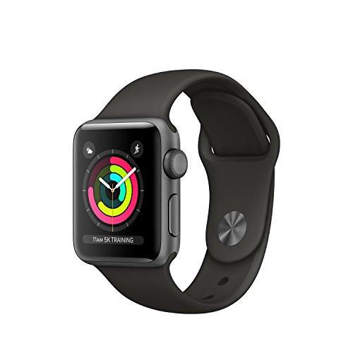 Apple Watch Series 3 OLED GPS (satélite) - Reloj Inteligente (OLED, Pantalla táctil, GPS (satélite), 18 h, 26,7 g), Caja de Aluminio en Gris Espacial y Correa Deportiva Gris
