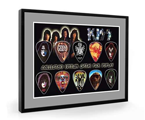 We Love Guitars Kiss A5 Edition Gitarre Plektrum Framed Gerahmt Display Gitarren Picks