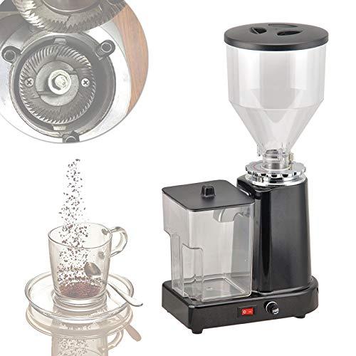 YSNJIN Pulverisierer Mahlmaschine, Kaffeebohnenschleifmaschine Elektrische mit Überlastschutz, Großer Kapazität und 1-19 Gängen für Gewerbliche,Schwarz