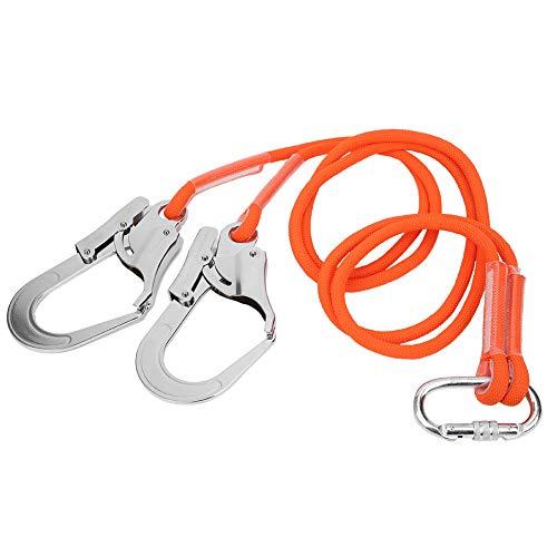Vbest life Cintura di Sicurezza per l'edilizia all'aperto, Cintura di Sicurezza per lavori Aerei da 1,6 m Cordino Protettivo per Arrampicata