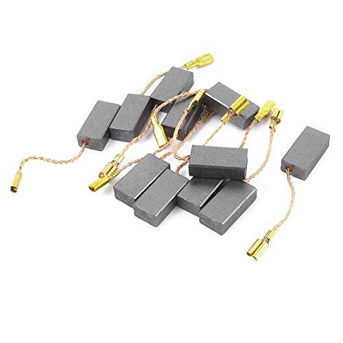 Recambio de cepillo de carbón de motor de 5 pares de 15 x 8 x 5 mm para el compresor de aire