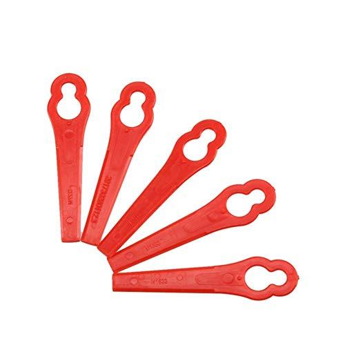Dureza Accesorio de Forjado Cuchillas Piezas fit for Inalámbrico Grass Trimmer Strimmer Segadora Industrial (Color : Red)