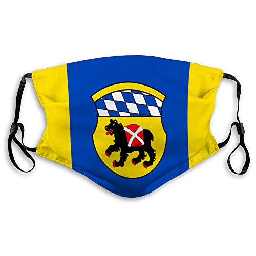Mouth Shield Reusable Unisex Adjustable Protection with Resist Flag of freising is a Town in Upper Bavaria Face Covers
