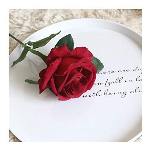 Pianta artificiale di rose artificiali ramo fiori decorazione per la casa di nozze carino rosa fiori falsi artigianato partito Decor 30cm (colore : rosa)
