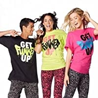 Zumba (ズンバ) Get Funked Up T-shirt Free Size (Black) [並行輸入品]