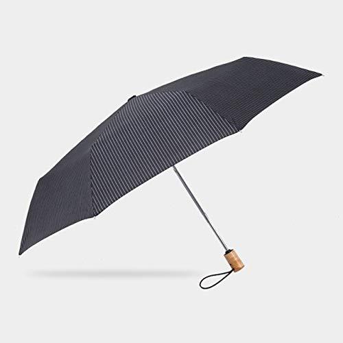 NJSDDB paraplu Automatische Paraplu Japanse Stijl Esdoorn Handvat Winddichte Vouwen Paraplu Voor Mannen Vrouwen Hout Paraplu's Clear Paraguas 8 Ribs, Zwart