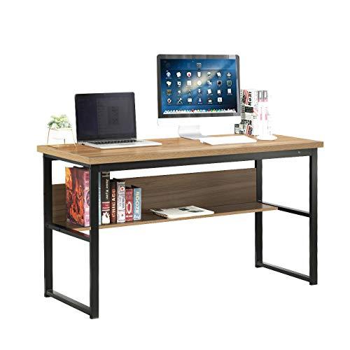 SogesHome Escritorio Mesa para computadora con Estante Escritorio Multifuncional Mesa de Comedor Mesa de conferencias Estación de Trabajo para Uso de Oficina en el hogar Escritorio, SH-LD-JB01OK