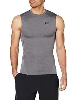 Under Armour Men s Armour HeatGear Compression Sleeveless T-Shirt  Carbon Heather  090 /Black  X-Large