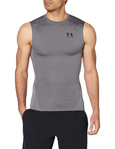 Under Armour UA Performance Polo, sportliches Poloshirt, strukturiertes funktionales T-Shirt Jungen, White / Mod Gray Light Heather / Mod Gray, YXS
