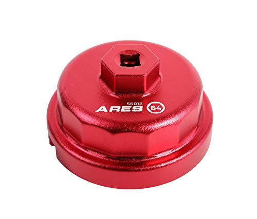 ARES 56012-64mm Oil Filter Wrench for Toyota, Lexus, and Scion 2.0 to 5.7 Liter Engines - 3/8-Inch Drive - Easily Remove Oil Filters