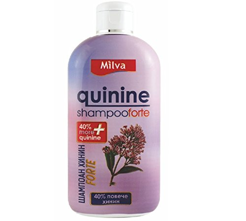 Quinine-Power Faster Hair-Growth Shampoo Forte - Reduces Hair-Shedding, Stimulates Growth - 40% more Quinine 200ml by Milva