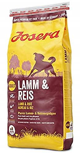 JOSERA Lamm & Reis (1 x 15 kg)   Hundefutter mit Lamm als einziger, tierischer Eiweißquelle   Super Premium Trockenfutter für ausgewachsene Hunde   1er Pack