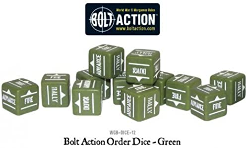 Grün Bolt Action Order Dice by Warlord Games (English Manual)