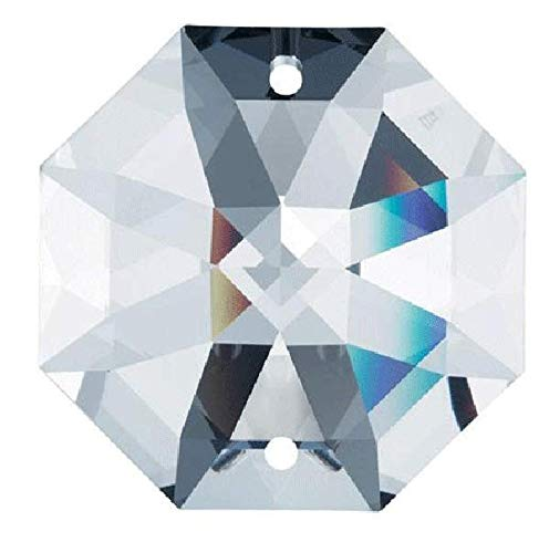 Swarovski STRASS Set of 28 8116-14mm Clear Octagon Lily 2 Holes Swarovski Crystal Chandelier Parts