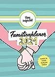XXL Familienplaner 2021   Wandkalender mit 5 Spalten für bis zu 5 Personen in DIN A3. Familienkalender Poster 2021 zum Aufhängen. Inklusive ... sowie einer Übersicht aller Schulferien