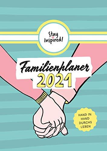 XXL Familienplaner 2021 | Wandkalender mit 5 Spalten für bis zu 5 Personen in DIN A3. Familienkalender Poster 2021 zum Aufhängen. Inklusive ... sowie einer Übersicht aller Schulferien