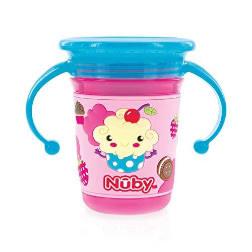 Nuby - 360° Wonder Cup met 3D-bedrukking - 240ml - 6m+ - roze