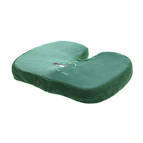WZLJW Cojines De La Silla Memory Foam Slip Free Durable Orthopaedic Seat Cushion For Knee Or Joint Problems,Cojín Multifuncional De Glúteos para El Asiento-Verde 48x38cm