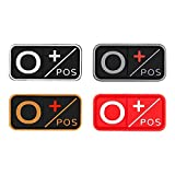 D-FLIFE Blood Type Patch Kit 3D PVC A+ B+ AB+ O+ Positive A- B- AB- O- Negative Rubber Fastener (O+)