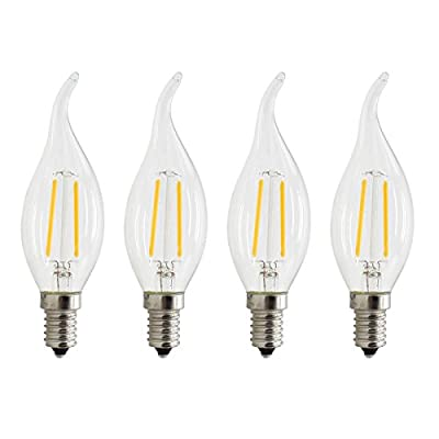 MBO Dimmable E12 Vintage Edison Bulb LED 2W 4W 6W 2700K Warm White AC110-130V for Old Chandeliers & Pendant